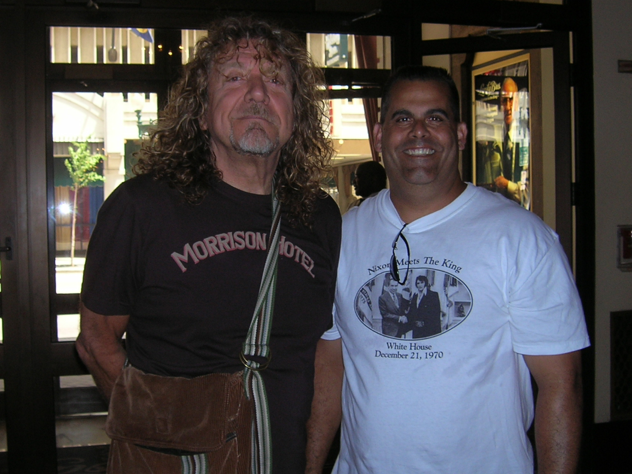 At least a fan of Morrison Hotel. Here he is with some dude.  sc 1 st  Musical Stew Daily - WordPress.com & Robert Plant \u2014 A Doors Fan? | Musical Stew Daily