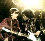 Jimi Hendrix and Chas Chandler