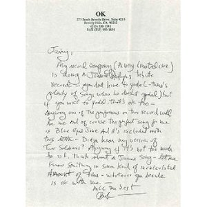 Bob Dylan's Letter To Jerry Garcia